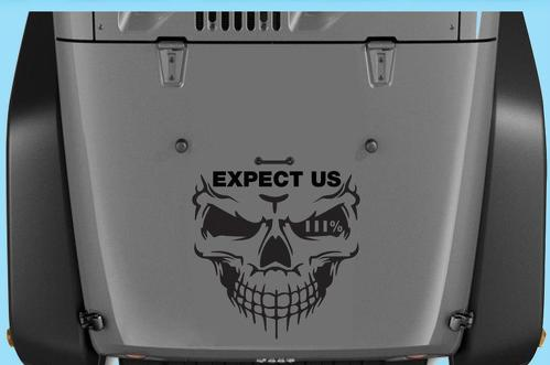 Jeep Decals Jeep Wrangler Expect Us III Vinyl Hood Decal 20
