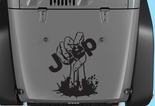 Jeep Decals Jeep Wrangler Zombie Hand Vinyl Hood Decal 15