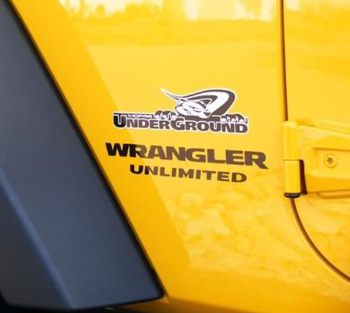 2 Jeep Mopar UnderGround Wrangler UNLIMITED KIT Hood Sticker Dec