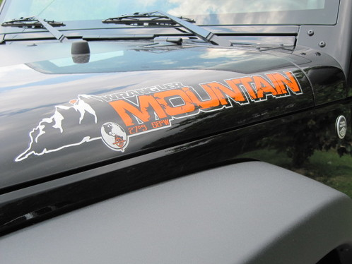 2 Jeep Mountain Rubicon JK Hood Colors Sticker Decal