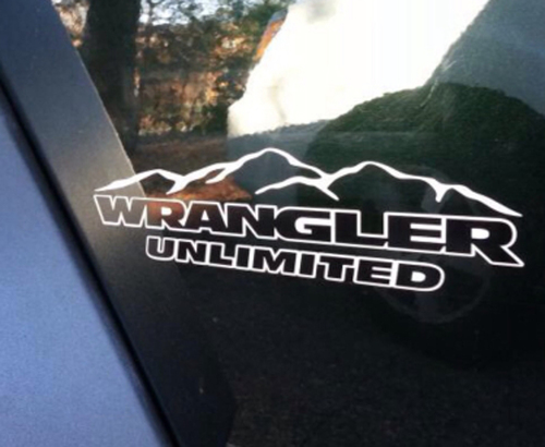 Jeep Mountain Wrangler Unlimited CJ TJ YK JK XJ All Colors Sticker Decal#5