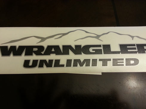 Jeep Mountain  Wrangler Unlimited CJ TJ YK JK XJ All Colors Sticker Decal#4