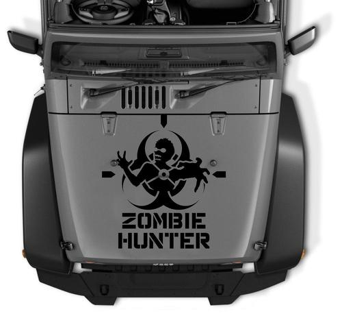 Jeep Rubicon Wrangler Zombie Hunter Decal CJ YJ TJ JK Vinyl Sticker