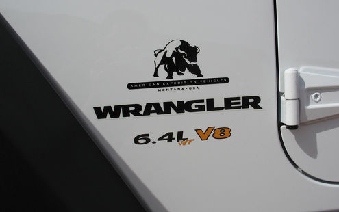 2 - Jeep Wrangler 6.4L vVT V8 CJ TJ YK JK Vinyl Sticker Decals