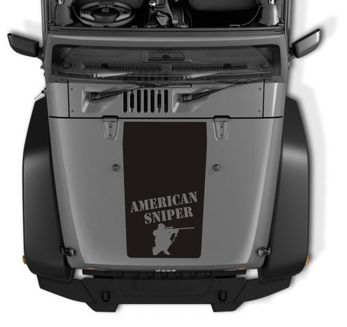 Jeep Wrangler Blackout American Sniper Vinyl Hood Decal TJ LJ JK Unlimited
