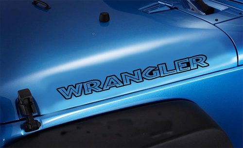 2 Jeep Wrangler Islander style Hood Vinyl Decal Sticker #2