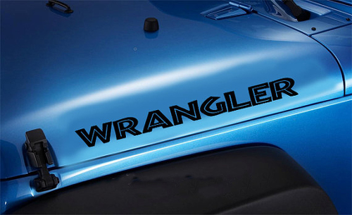 2 Jeep Wrangler Islander style Hood Vinyl Decal Sticker #1