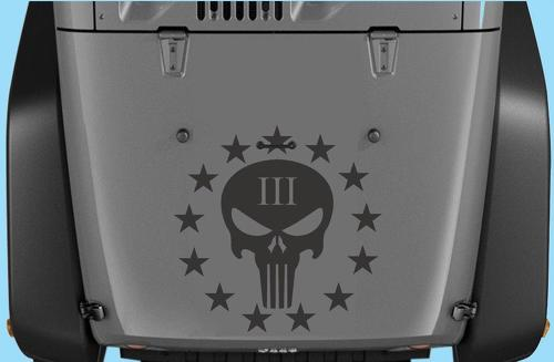 Jeep Wrangler Punisher III Vinyl Hood Decal 20