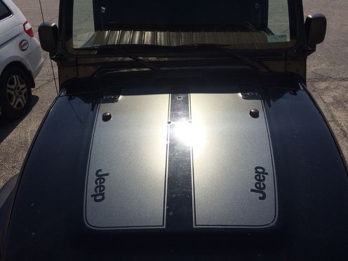 Jeep Wrangler TJ Vinyl 2 Piece Hood Decal TJ U PICK COLOR