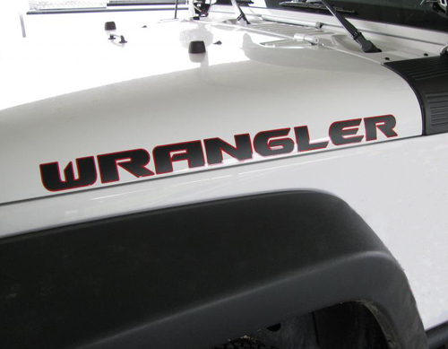 2 Wrangler Rubicon jeep CJ TJ YK JK XJ  Vinyl Sticker Decal#3