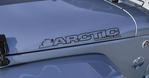 2 Jeep Arctic Wrangler Rubicon Hood Decals