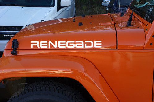 2 Renegade Jeep Wrangler Rubicon YK JK XJ Vinyl Sticker Decals