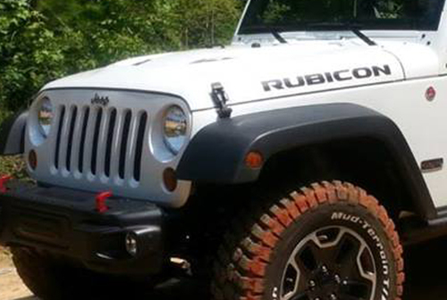 2 Jeep Rubicon Wrangler JK Hood Sticker Decal