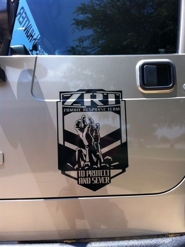 2 Jeep Rubicon Zombie Response Team ZRT door Wrangler Decal Stic