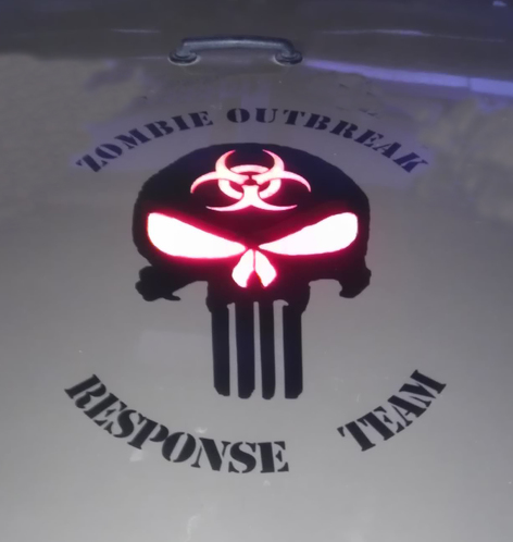 Zombie Outbreak Response Team Skull Wrangler Vinyl Sticker Decal