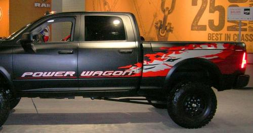 KIT of 2013 Dodge Ram Power Wagon Hemi decal sticker for Tailgate driver and passenger side