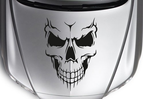 Large Skull Jeep Hot Rod Rock Punk Tribal Car Truck Hood Body Vinyl Sticker Decal TJ CJ JK LJ