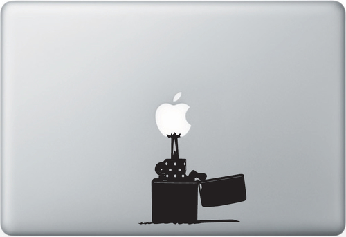 Lighter Apple Macbook Decal Sticker