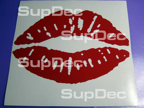Lips Love Kissing Pucker Sexy Hot Decal Sticker Vinyl