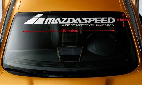 MAZDA MAZDASPEED STYLE #2 Windshield Banner Vinyl Premium Decal Sticker 40