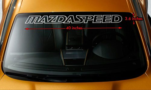 MAZDA MAZDASPEED Windshield Banner Vinyl Heat Resisted Decal Sticker 40