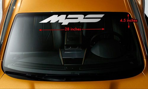 MAZDA MPS MAZDASPEED 3/6 Windshield Banner Vinyl Premium Decal Sticker 28