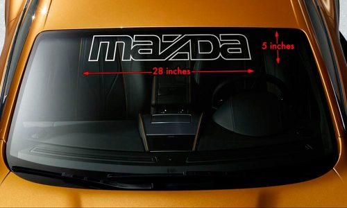 MAZDA OUTLINE Windshield Banner Vinyl Long Lasting Decal Sticker 28