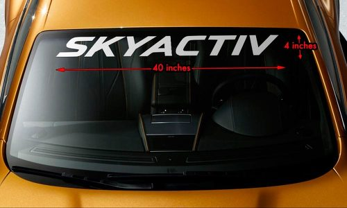 MAZDA SKYACTIV Windshield Banner Vinyl Long Lasting Premium Decal Sticker 40