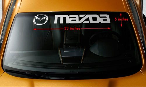 MAZDA STYLE #2 Windshield Banner Vinyl Long Lasting Premium Decal Sticker 33