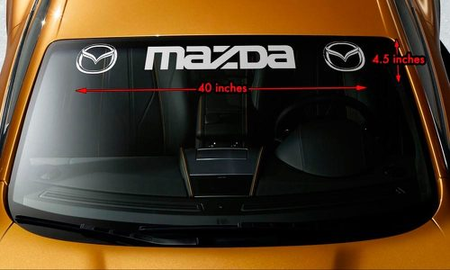 MAZDA STYLE #3 Windshield Banner Vinyl Long Last Premium Decal Sticker 40