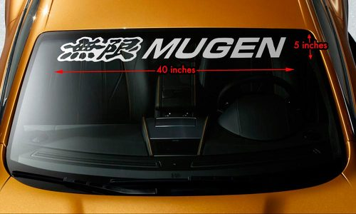 Mugen honda windshield banner vinyl long lasting premium decal sticker 40