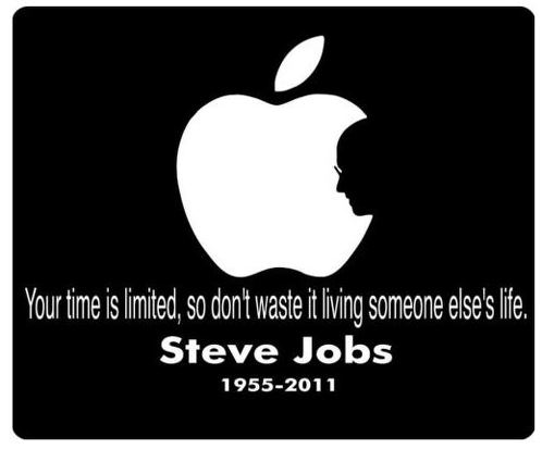 Made in USA Steve Jobs Apple Computer  White Decal Sticker