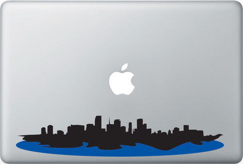Miami Skyline Apple Macbook Decal Sticker