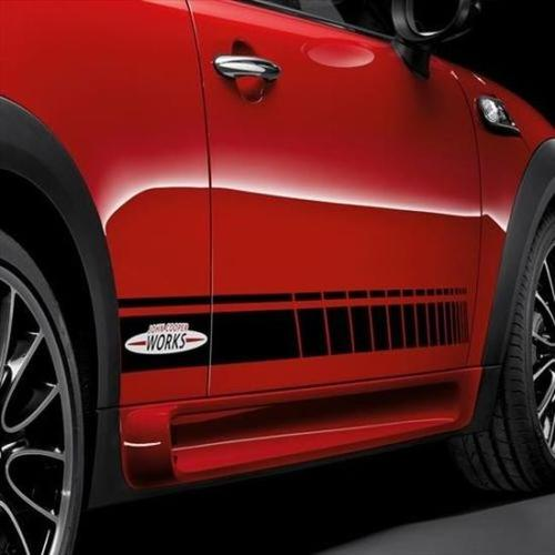 Mini Cooper R56 F56 side stripes graphics decal John Cooper Works stripe