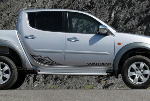 Mitsubishi L200 Warrior side stripe tribal decal graphics