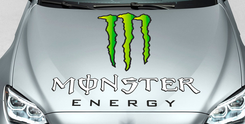 Monster Energy Drinks Logo hood decal sticker full color