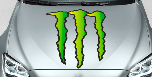 Monster Energy Drinks Logo hood decal sticker full color only logo