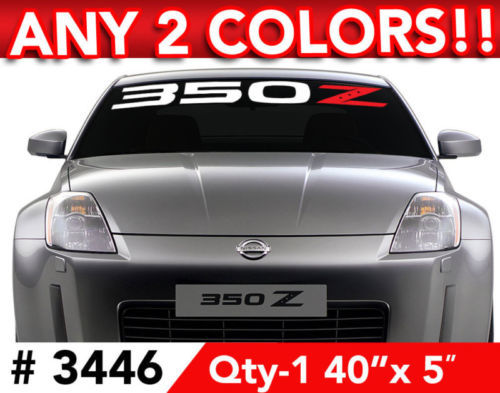 NISSAN 350 Z 2 COLOR DECAL STICKER 40