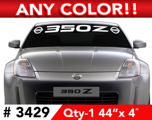 NISSAN 350 Z LOGO WINDSHIELD DECAL STICKER 44