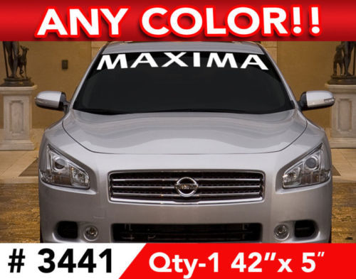 NISSAN MAXIMA WINDSHIELD DECAL STICKER 42