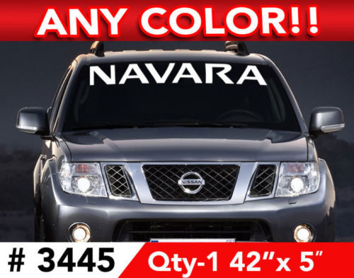 NISSAN NAVARA WINDSHIELD DECAL STICKER 42