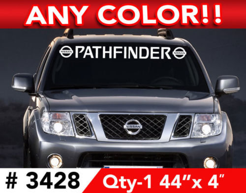 NISSAN PATHFINDER LOGO WINDSHIELD DECAL STICKER 44
