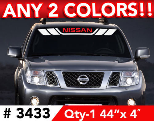 NISSAN STRIPES WINDSHIELD 2 COLOR DECAL STICKER 44