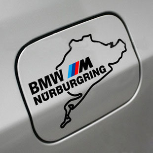 BMW M NURBURGRING M3 M5 M6 328 Fuel Tank Door Decal sticker embl