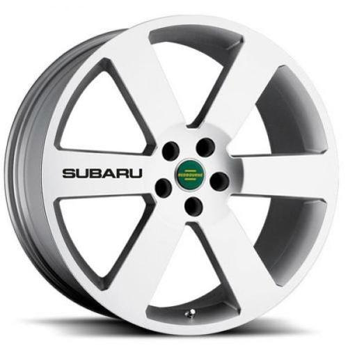 4 Subaru Black Wheels Decal Sticker Emblem Impreza Outback WRX STI