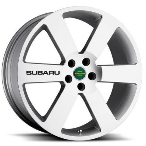4 Subaru Black Wheels Aufkleber Aufkleber Emblem Impreza Outback WRX STI