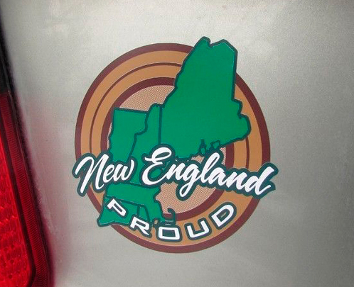 PAIR New England Granite State Proud State Pride Bumper Sticker Decal New England JEEP