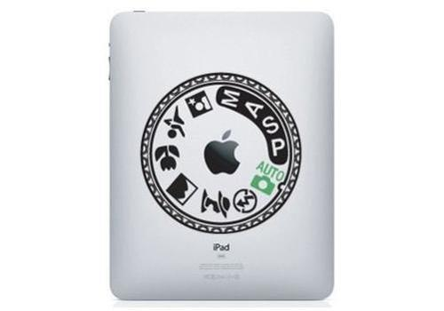Nikon D90 Mode Dial IPad Decal Sticker