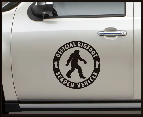 Official Bigfoot Search Vehicle - Set - Vinyl Door Decal Sasquatch car truck 4x4
