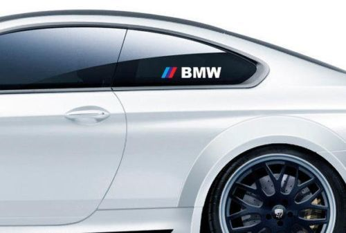 PAIR BMW M3 M5 M6 E34 E36 E39 E46 E60 E70 E90 Z4 Window Decal sticker logo